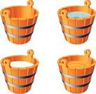 Bucket,Milk,Wood - Material,Honey,Drinking Water,Water,Cartoon,Vector,Household Objects/Equipment,Dairy Products,Isolated-Background Objects,Objects/Equipment,Food And Drink,Isolated Objects