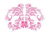 Horizontal,Abstract,No People,Leaf,Illustration,Ornate,Pink Color