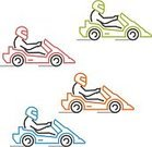 Cut Out,Motion,Competition,Silhouette,No People,Mode of Transport,Sign,Leisure Activity,Car,Activity,Track - Imprint,Go-cart,Illustration,Straight,Symbol,Extreme Sports,Sport,Outline,Thin,Sports Race,Soapbox Cart,Land Vehicle,Go-Carting,Machinery,Vector,Label,Multi Colored,Badge
