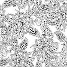 No People,Vector,Backgrounds,Flower,Decoration,Illustration,Seamless Pattern,Floral Pattern,Pattern