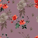 Square,No People,Illustration,Peony,Botany,Watercolor Paints,Backgrounds,Blossom,Pattern