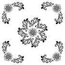 Cut Out,No People,Flower,Illustration,Outline,Mandala,Decoration,Classical Style,Floral Pattern