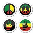 Rastaman,Rastafarianism,Symbols Of Peace,Cuba,Africa,Reggae,Social Issues,Label,Human Body Part,Global,Jamaican Culture,Arts Culture and Entertainment,Illustration,Rastafarian,Flag,Human Hand,Caribbean Culture,Gesturing