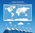 No People,Illustration,Infographic,Data,Mountain,Continent,Mountain Peak,Mountain Climbing,High Up,Vector