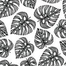 No People,Tropical Climate,Plant,Palm Tree,Tropical Rainforest,Summer,Illustration,Nature,Leaf,Seamless Pattern,Botany,Branch,Backgrounds,Bouquet,Print,Tree,Springtime,Pattern,Floral Pattern,Textile