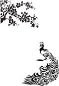 Peacock,Pattern,Japanese Culture,Vector,Design,Bird,Tree,Silhouette,Symbol,Ilustration,Blossom,Drawing - Art Product,Chinese Culture,Black Color,Elegance,Ornate,Computer Graphic,Decoration,Plant,Branch,Wing,Computer Icon,Nature,Pencil Drawing,Tail,Leaf,Design Element,Beauty In Nature,Tendril,flourishes,Shape,Style,Exoticism,Summer,Part Of,Clip,Animals And Pets,Illustrations And Vector Art,Nature