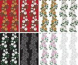 No People,Flower,Plant,Illustration,Nature,Single Flower,Seamless Pattern,Decoration,Backgrounds,Rose - Flower,Beauty In Nature,Vector,Red,Pattern,Floral Pattern,White Color,Black Color