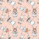 Humor,Childhood,Repetition,No People,Domestic Animals,Rabbit - Animal,Animal,Animal Markings,Vector,Mammal,Cute,Illustration,Seamless Pattern,Young Animal,Cartoon,Pattern