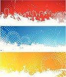 Digitally Generated Image,Backgrounds,Banner,Modern,Grunge,Technology,City,Gear,Urban Scene,Abstract,Vector,Pattern,Orange Color,Blue,Three-dimensional Shape,Curve,Striped,White,Vertical,Circle,Ilustration,Freshness,Shape,Design Element,Style,Decoration,Curled Up