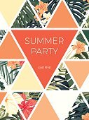 No People,Template,Tropical Climate,Backgrounds,Summer,Wedding,Invitation,Illustration,Inviting,Greeting Card,Floral Pattern,Pattern,Vibrant Color