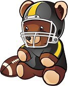 Football,Teddy Bear,American Football - Sport,Football Helmet,Cute,steelers,Sport,Pittsburgh - Pennsylvania,Stuffed Toy,Toy,Vector,Face Guard - Sport,Childhood,Toy Animal,Cartoon,Ball,Cub,Sports Helmet,Flag Football,Fun,Touch Football,Playful,Drawing - Art Product,Clip Art,Offensive Line,Animals And Pets,Front View,Babies And Children,Isolated On White,Fluffy,Softness,Happiness,Brown,Color Image,Small,Mammals,Computer Graphic,Characters,Lifestyle,Illustrations And Vector Art,Full Length,Fur,Vector Cartoons,Sitting,Back to School,American Football League,Sports Uniform