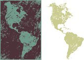 The Americas,Map,Vector,Travel Locations,Illustrations And Vector Art,No People,Ilustration,Physical Geography