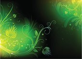 Green Color,Abstract,Swirl,Backgrounds,Flower,Vector,Light - Natural Phenomenon,Frame,Shiny,Computer Graphic,Leaf,Color Image,Design,Plant,Symbol,Funky,Sunbeam,Illuminated,Retro Revival,Pattern,Nature,Art,Shape,Luminosity,Scroll Shape,Ilustration,Scroll,Springtime,Softness,Design Element,Summer,Vibrant Color,Sunlight,Concepts And Ideas,Illustrations And Vector Art,Arts And Entertainment,Bush,Lush Foliage,Part Of,Branch,Stem