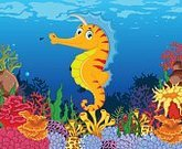 Humor,Silhouette,Reef,Tropical Climate,Background,Animal Wildlife,Animal,Cute,Sea,Undersea,Cartoon,Deep,Summer,Animals In The Wild,Coral,Illustration,Nature,Image,Below,Seascape,Light - Natural Phenomenon,Education,Underwater,Sea Horse,Below,Backgrounds,Water,Lifestyles,Fun,Vector,Animated Cartoon,Fish,Orange Color,Blue,Coral Colored,Yellow