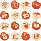 Education,Symbol,Computer Icon,Icon Set,University,Science,Sign,Label,Graduation,Book,Set,Vector,Astronomy Telescope,Mortar Board,Apple - Fruit,Calculator,Physics,Globe - Man Made Object,Red,Atom,Formula,Portfolio,Drawing Compass,DNA,Circle,Protractor,Energy,Beaker,Ilustration,Computer,Insignia,Microscope,Laptop,Pencil,Pen,Clip Art,Isolated,Briefcase,Interface Icons,Industry,Vector Icons,Education,Illustrations And Vector Art