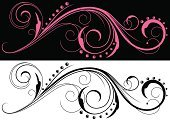 Design Element,Swirl,Clip Art,Retro Revival,Design,Spiral,Elegance,Curve,Curled Up,Decoration,Black And White,Victorian Style,Vector,Vector Florals,Ornate,Illustrations And Vector Art