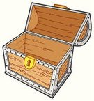 Trunk,Treasure Chest,Clip Art,Cartoon,Empty,Open,Lock,Old,Case,Vector,Old-fashioned,Lid,Antique,Wood - Material,Heavy,Ilustration,Art Product,Isolated Objects,Drawing - Art Product,Single Object,Large,Objects with Clipping Paths,Illustrations And Vector Art,Container,Objects/Equipment,Isolated,Keyhole
