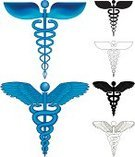 Caduceus,Medicine,Healthcare And Medicine,Sign,Symbol,Snake,Herbal Medicine,Computer Icon,Modern,Vector,Religious Icon,Blue,Ilustration,Wing,Classic,Vector Icons,Health Symbols/Metaphors,Illustrations And Vector Art,Beauty And Health,Simplicity