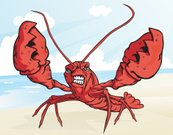 Lobster,Crayfish,Crayfish,Furious,Anger,Displeased,Summer,Fighting,Conflict,Beach,Cartoon,Sun,Mascot,Vector,Animal,Seafood,Aggression,Food,Humor,Sea,Cloudscape,Animal Themes,Ilustration,Cloud - Sky,Toughness,Nature,Animal Antenna,Confrontation,Red,Sea Life,Animals And Pets,Animal Teeth,Sunlight,Sand,Macho,Claw,No People,Nature,Illustrations And Vector Art,One Animal,Sky