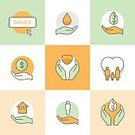 62990,Illustration,People,Icon Set,Computer Icon,Symbol,Flat,Earth,Water,Vector