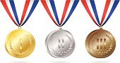 Medal,Gold Medal,Winners Podium,Medallion,Award Ribbon,Gold,Gold Colored,Winning,Trophy,Silver Medal,Award,Silver - Metal,Honor,Bronze,Silver Colored,Bronze,Second Place,Bronze Medal,Achievement,Isolated,Isolated On White,Concepts And Ideas,Success,Sports And Fitness,Sports Symbols/Metaphors,Competition,First Place,Success,Gold Leaf