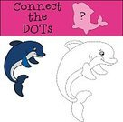 Cartoon,Illustration,Puzzle,Fun,Vector,Dolphin