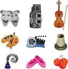 Art,Ballet Slipper,Symbol,Ballet,Computer Icon,Icon Set,Palette,Creativity,Painted Image,Elegance,Paintbrush,Theater Mask,Performance,Wool,Mask,Entertainment,Pottery,Performing Arts Event,Movie Camera,Camera - Photographic Equipment,Humor,Comedy Mask,Tragedy Mask,Violin,Literature,Set,Paintings,Art And Craft,Feather,Colors,Ink,Writing,Knitting Needle,Lens - Optical Instrument,Photography Themes,Motivation,Technology,Inspiration,Imagination,Ideas,Shoe,Knitting Wool,Sewing Needle,photo camera,Simplicity,White Background,Sparse,Medium Group of Objects,Quill Pen