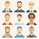Characters,Males,Computer Graphics,Teacher,Orthographic Symbol,Illustration,People,Icon Set,Computer Icon,Symbol,Human Body Part,Flat,Computer Graphic,Avatar,Human Head,Human Face