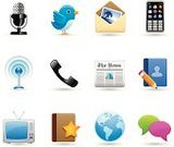 Symbol,Computer Icon,Icon Set,Telephone,Internet,The Media,Newspaper,Communication,E-Mail,Television Set,Mobile Phone,Global Communications,Globe - Man Made Object,Mail,Radio,Discussion,Microphone,Photography,Talking,Podcast,Smart Phone,Blog,Broadcasting,Bookmark,comment,Planet - Space,Radio Wave,Star Shape,Tower,Address Book