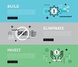 Web Banners,Financial Education,Rejection,No People,Currency Symbol,Finance and Economy,Diagram,Finance,Vector,Arrow Symbol,Investment,Illustration,Building - Activity,Banner - Sign,Chart,Banner