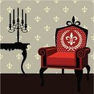 Chair,Chandelier,Decor,Furniture,Victorian Style,Living Room,Antique,Armchair,Retro Revival,Indoors,Nobility,Classic,Candlestick Holder,Vector,Design,Comfortable,Old,Ilustration,Wealth,Style,Antiquities,Decoration,Backgrounds,Wallpaper Pattern,Part Of,Relaxation,Single Object,Lifestyles,Ideas,Ancient,Candle,Household Objects/Equipment,Architectural Detail,Objects/Equipment,Architecture And Buildings,Illustrations And Vector Art
