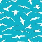 Disseminate,wingspread,Freedom,Concepts,Silhouette,Concepts & Topics,Background,Animal Wildlife,Animal,Sea,Seagull,Wind,Wide,Animals In The Wild,Illustration,Nature,Animal Markings,Flying,Beak,Seamless Pattern,Sea Bird,Bird,Glowing,Backgrounds,Vector,Blue,Pattern,White Color