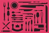 Fork,Silverware,Spoon,Butcher,Symbol,Kitchen Knife,Vector,Computer Icon,Butcher's Shop,Wire Whisk,Meat,Silhouette,Pizza,Icon Set,Kitchen Utensil,Meat Cleaver,Rolling Pin,Ilustration,Cooking Utensil,Back Lit,Bizarre,Isolated,Fish,Design Element,Blade,Outline,Equipment,Set,Fish Knife,Collection,Pallet,Danger,Design,Sharp,Illustrations And Vector Art,Vector Icons,Dinner Knife,Sweet Food,Mincing Knife,Large Group of Objects,Iconset