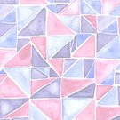Square,Repetition,No People,Computer Graphics,Geometric Shape,Illustration,Computer Graphic,Watercolor Painting,Watercolor Paints,Triangle Shape,Multi Colored,Pattern