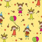 Child,Childhood,Girls,Candy,Background,Offspring,Lollipop,Greeting Card,Cheerful,Illustration,Birthday,Joy,Balloon,Space,Playing,Backgrounds,Confetti,Sweet Food,Party - Social Event,Colors,Yellow