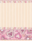 Valentine's Day - Holiday,Heart Shape,Pink Color,Frame,Backgrounds,Scrapbooking,Love,Doodle,Vector,Art,Symbol,Romance,Ornate,Computer Graphic,Design,Letter,Abstract,Color Image,Funky,Placard,Ilustration,Drawing - Activity,Saint,Decor,Design Element,Scribble,Beige,Wallpaper Pattern,Creativity,Elegance,stylization,Holiday,Decoration,Clip Art,Holidays And Celebrations,Weddings,Valentine's Day,Holiday Backgrounds