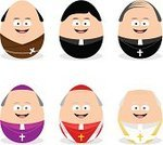 Priest,Monk - Religious Occupation,Pope,Bishop - Clergy,Clergy,Icon Set,Occupation,Christianity,Spirituality,Human Face,People,Men,Avatar,One Person,Religion,Human Role,Cardinal - Clergy,Vector,Vector Icons,People,Illustrations And Vector Art,Job - Religious Figure