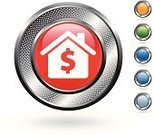 House,Dollar Sign,Labeling,Residential Structure,Loan,Dollar,Finance,Computer Icon,Real Estate,Elegance,Symbol,Silver Colored,White Background,Hole,Roof,Blue,Digitally Generated Image,Green Color,Red,Curve,Metal,Metallic,Empty,Inflation,Blank,Orange Color,Shadow,Circle