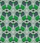 No People,Art,Art And Craft,Vector,Illustration,Seamless Pattern,Geometric Shape,Pattern,Green Color