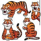 Animal,Cute,Bengal Tiger,Mammal,Illustration,Sumatra,Large,Cub,Large,Tabby Cat,Smiling