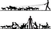 Dog,Walking,Silhouette,Leash,Men,Pets,Vector,Playing,Animal,Group Of Animals,Outline,Ilustration,breeds,Pulling,Occupation,Variation,Leading,Care,Exercising,Control,Computer Graphic,Tangled,Outdoors,dog-walker,Design Element,Dogs,dog-walking,text-space,Animals And Pets,Copy Space,Canine,Leisure Activity,Focus On Foreground,Animal-Related Occupation,Illustrations And Vector Art,People