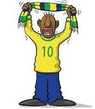 Ultra,Characters,Humor,Brazil,One Person,Brazilian Culture,Soccer,Cute,Cartoon,Cheerful,Displeased,Illustration,People,National,Sport,Sports Team,Fan - Enthusiast,Playful,Furious,Fun,Vector,Design,Patriotism,Shouting,Blue,Cheering,Singing,Screaming,Crying,Standing,Yellow,Green Color