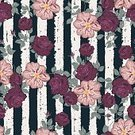 No People,Flower,Illustration,Symbol,Fashion,Seamless Pattern,Decoration,Backgrounds,Rose - Flower,Blossom,Arts Culture and Entertainment,Vector,Striped,Pattern,Floral Pattern,Textile