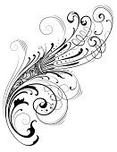 Art Nouveau,Cartouche,Design,filigree,Floral Pattern,Design Element,Scroll Shape,Victorian Style,Gothic Style,Vector,Beautiful,Ornate,Swirl,Flowing,Spiral,Vector Florals,Vector Ornaments,Vector Backgrounds,Intricacy,Leaf,Illustrations And Vector Art