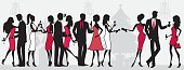 Party - Social Event,Silhouette,Cocktail,People,Christmas,Women,Drinking,Champagne,Men,Elegance,Dress,Social Gathering,Glamour,Fashion,Cartoon,Celebration,Female,Vector,Gift,Ilustration,Group Of People,Talking,Male,Chandelier,Suit,Profile View,Cocktail Dress,Christmas Cracker,Flirting,Fun,Christmas Tree,Characters,Evening Wear,Style,Christmas,People,Holidays And Celebrations,Cute,Parties