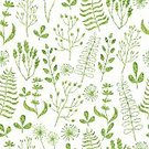 268399,Cut Out,Abstract,Repetition,No People,Flower,Plant,Doodle,Herb,Ornate,Summer,Illustration,Nature,Leaf,Aubusson,Seamless Pattern,Decoration,Branch,Backgrounds,Vector,Springtime,Pattern,White Color,Design Element,Green Color,White Background