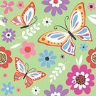 268399,Deisgn,No People,Computer Graphics,Art And Craft,Background,Art,Cute,Paper,Illustration,Leaf,Animal Markings,Single Flower,Wrapping Paper,Computer Graphic,Aubusson,Seamless Pattern,Butterfly - Insect,Gift,Backgrounds,Vector,Springtime,Design,Multi Colored,Pattern,Design Element