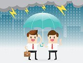 Adult,60500,Sharing,Ideas,Togetherness,Teamwork,Concepts,Separation,Men,Group Of People,Rain,Concepts & Topics,Background,Share,Winning,Cartoon,Office,Finance,Illustration,Business Person,People,Businessman,Business Finance and Industry,Cross Section,Presentation,Happiness,Weather,Environment,Storm,Part Of,Backgrounds,Finance and Economy,Business,Stand,Manager,Manual Worker,Vector,Design,Occupation,Umbrella,Holding
