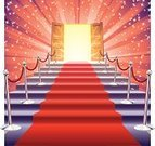 Red Carpet,Door,Carpet - Decor,Red,Glamour,Staircase,Fame,Success,Vector,Doorway,Shiny,No People,Star Shape,Entertainment,stanchion,Concepts,Sunbeam,Illustrations And Vector Art,Square,Celebration,Projection,Bright,Empty