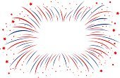 Abstract,Firework Display,Anniversary,Vector,Backgrounds,Bright,Bright,Firework - Man Made Object,Star - Space,Illustration,Exploding,Blue,Pattern,Vibrant Color,Red